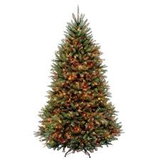 6 5 ft dunhill fir artificial tree with 650 multi color