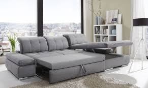 Sleeper Sofa Alpine Sectional Sleeper Sofa Right Arm Chaise Facing Black
