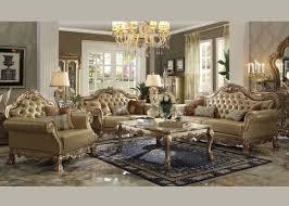 Gold Sofa Living Room 2 Pcs Dresden Gold Sofa Set 53160 Traditional