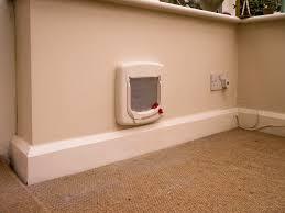 installing pet door in glass door cat flap fitting through walls doors upvc panels and double