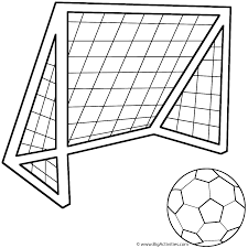 soccer ball with soccer net coloring page father u0027s day