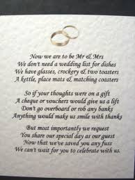 wedding gift poems wedding gift poem presence not presents imbusy for