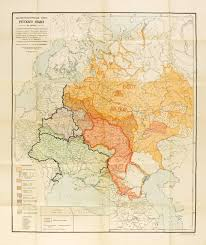 linguistic map of russian languagues from 1914 with some 2014