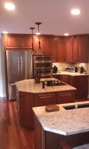 kitchen cabinet with two islands homecrest cabinets jamison door