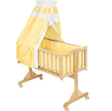furniture nice white and taupe color portable rocking bassinet