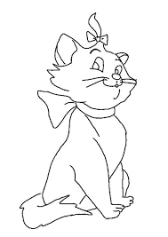 marie cat coloring pages learn coloring