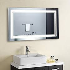 Bathroom Mirror With Lights by Amazon Com Led Backlit Mirror Home U0026 Kitchen