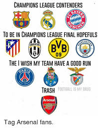 Chions League Meme - chions league contenders nche to be in chions league final
