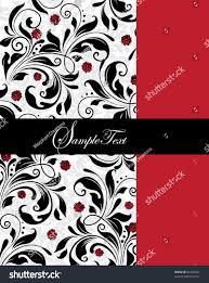 Black And White Invitation Card Invitation Card Red Black Elements Stock Vector 82268647
