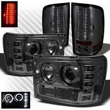 led lights for 2014 gmc sierra gmc sierra 2500hd 2007 2014 smoked halo projector headlights and led