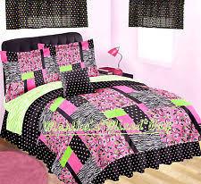 Pink Zebra Comforter Set Full Jungle Kids And Teens Bedding Sets Ebay