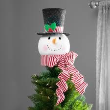 monogram tree topper snowman top hat tree topper kirklands