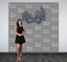 personalized photo backdrop graduation personalized photo backdrop masquerade backdrop