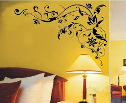 Bedroom Wall Art And New Bedroom Wall Art EMS Wall Stickers Flower - Flower designs for bedroom walls