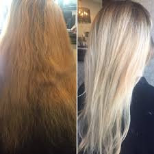 Dark Blonde To Light Blonde Ombre Hair Makeover Before To After Blonde Light Blonde Long Hair