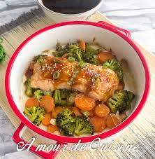 cuisine saumon saumon teriyaki aux légumes amour de cuisine