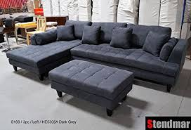 Gray Microfiber Sectional Sofa 3pc Design Gray Microfiber Sectional Sofa