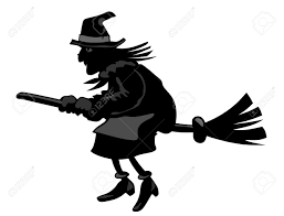 witch silhouette clipart silhouette of a witch flying on a broom royalty free cliparts