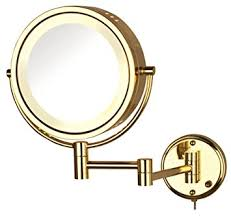 bright light magnifying mirror amazon com jerdon hl75g 8 5 inch lighted wall mount makeup mirror