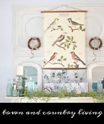 Winter Home Decorating Ideas After Christmas Winter Mantel And Living Room