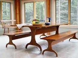handmade custom tiger maple shaker dining table from vermont