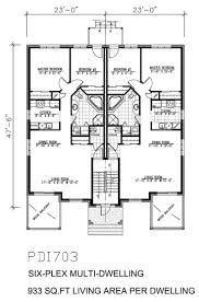 multi family house plans duplex plans triplex plans 4 plex plan 4