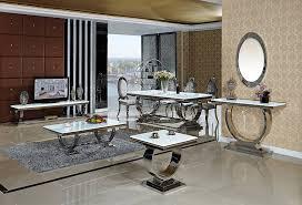 Esszimmertisch 200 X 100 Esstisch Amelie 200 X 100 Cm Esszimmertisch Glas Edelstahl Tisch