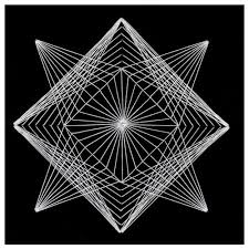 coloring page alluring string art geometry coloring page string