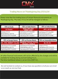 trading hours on thanksgiving day 27 11 2014