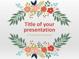 Floral Spring Powerpoint Template Presentationgo Com Ppt Tempelate