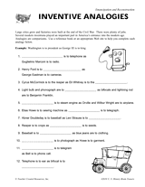 inventive analogies printable post civil war inventions grades