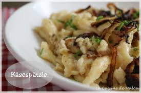 spécialité allemande cuisine les käsespätzle spätzle aux fromages spécialité autrichienne