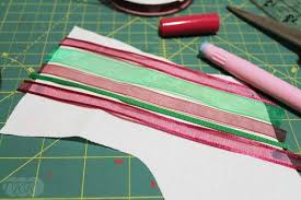 woven ribbon woven ribbon christmas the ribbon retreat