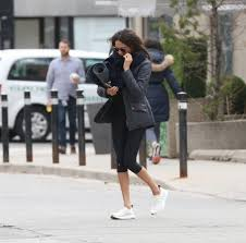 Meghan Markle Toronto Address by Meghan Markle Spotted Headed To Yoga Class In Toronto Photos