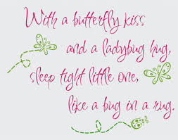 with a butterfly and a ladybug hug vinyl design