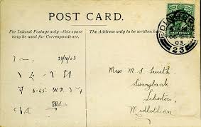 messages on postcards