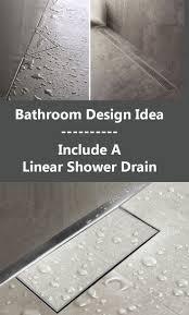 best 25 shower drain ideas on pinterest linear drain open bathroom design idea include a linear shower drain