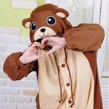 Brown Bear Halloween Costume Aliexpress Buy Animal Lovely Brown Bear Pajamas