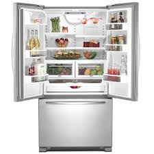 Whirlpool Inch French Door Refrigerator - 2 samsung rfg237aa counter depth french door bottom freezer