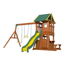 Sears Backyard Playsets Shop Playsets U0026 Swing Sets At Lowes Com