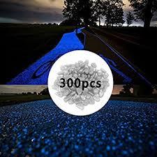 glow in the dark rocks amazon com 300pcs glow in the dark pebbles for walkways décor