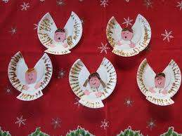 a chorus of christmas angels made of paper plates christmas