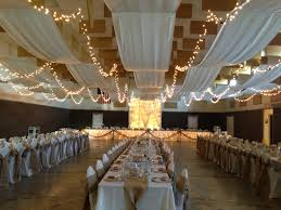 Wedding Decoration Church Ideas by Church Gym Wedding Decor Draped Ceiling Rustic We Drilled Heavy