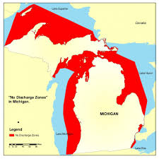 Great Lakes North America Map by No Discharge Zones Ndzs By State Vessels Marinas And Ports