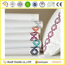 4 pcs luxury high quality embroidered bed linen embroidered bed