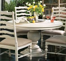 paula deen home linen round pedestal extendable dining table from