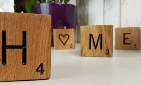 Wall Mounted Nameplate Holders Solid Oak Engraved Scrabble Tea Light Holders Bramble Signs