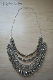 silver necklace diy images Diy silver sparkle necklace my girlish whims jpg