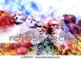 clipart of mount rushmore with multi colors u14591071 search