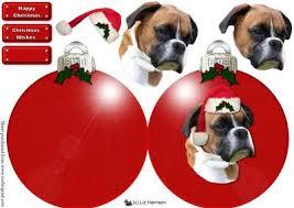 boxer dog xmas boxer dog christmas bauble decoupage cup475330 15 craftsuprint